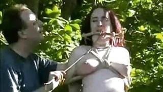 Outdoor nettles bdsm and bbw slave girls garden image