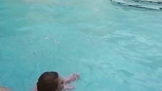 Dude bangs girlfriend_by outdoor pool image