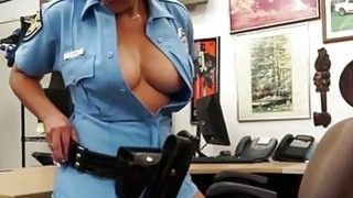 Pretty Police officer who has an amazing_ass gets fucked from behind in the shop image
