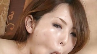 Japanese with sexy milk cans amazes with blowbang image