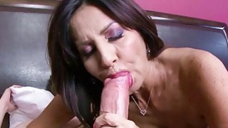 Milfs pussy fucked by an oversized cock so hard image