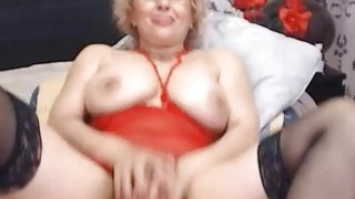 Image: Hot Blonde Mature Fucks Pussy With Toy