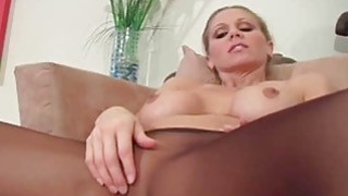Image: Tiny tits playgirl makes show in black pantyhose