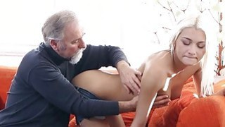 Image: Crazy old boy bonks mouth pussy of a young girl