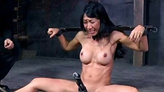 Image: Slave gets arse whipping before pussy torturing