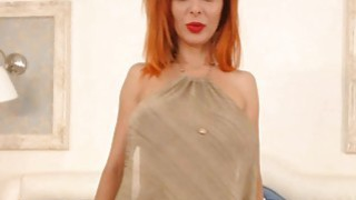 MILF Redhead with Big Tits and High Heels image