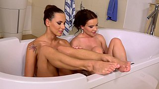 Home spa_with European babes image