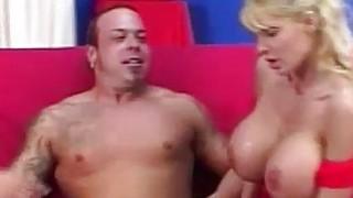 Blonde Licks_& Sucks Her_Own Nipples image