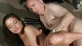 Tight Beautiful Teen Pussy Fucked By_Fat Old Step image