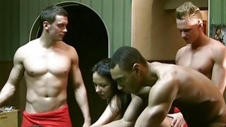 Forced to suck cock and fucked hard threesome image