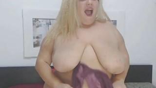 Image: FAT FAT FAT Busty Blonde Chick Masturbates