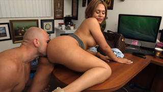 Casting with horny Latina milf image