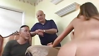 Image: Slim wife fucks while holding hubbys hands