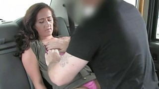 Lady in pink underwear gets fucked in the cab image