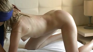 Blindfolded wife sucks and gets fucked from behind image