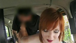 Horny red hair fucked by fraud driver image