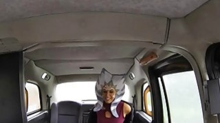 Star wars loving chick takes a taxi drivers cock inside her image