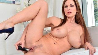 Big boob mommy toy fucks_her dripping wet twat to orgasm image