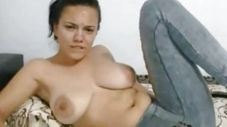 Image: Big Tit latina Fingers pussy Under The Jeans