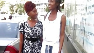 Two hot african lesbians need a shower for fresh her pussy image