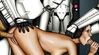 Star Wars cartoon porn parody image