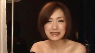 Magnificent brunette Asian sucks big cock_like a pro image