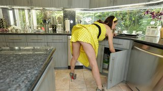 Lonely housewife gets the fuck of her life image