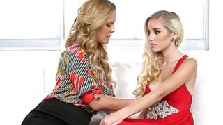 Devastated teen beauty pussy licked by her friends mom image
