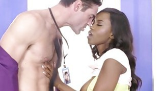 Sexy brunette babe Jezabel Vessir getting fucked at the office table image