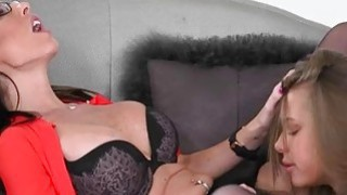 Dava Foxx and Liza Rowe intimate lesbo action on the_couch image