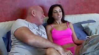 Awesome Brunette Babe Fucks Her Stepdad Hard image