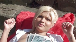 Amateur Czech babe gets fucked in public image