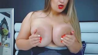 Babe With Big Tits Ass And Nipples Masturbates image