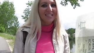 Image: Slim Czech blonde amateur bangs in public