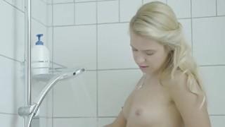 Cute virgin teen masturbating in the shower image