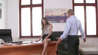 Hot secretary Rebel Lynn fucked with her boss image