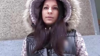 Sexy babe Joyce cheats on her boyfriend with a random dude image