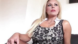 Busty blonde MILF Monty  bounces her big ass on a hard dick image
