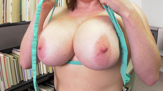 Image: Busty Librarian Maggie Green pulled out her big beautiful tits