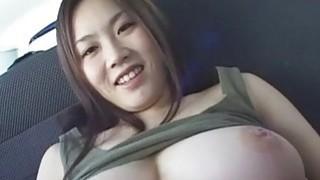 Subtitles Japanese big breast BBW play in car image