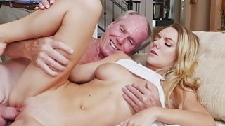 Image: Hot babe Molly Mae surprised in a foursome fuck