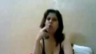 Image: Amateur Arab Girlfriend Smoking Fucking Dong