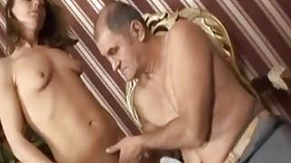 Nasty brunette_slut fucks horny handicapped guy image