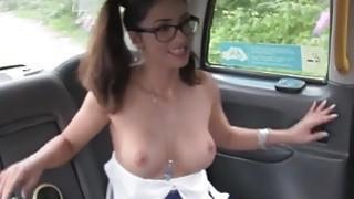 Fake taxi driver anal fucks busty cheerleader image