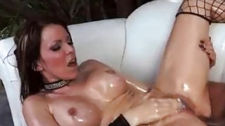 Rough anal fucking for bigbooty oiled slut image
