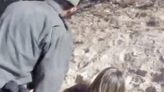 Border Patrol Guy fucks Teen Tresspas Doggy Style image