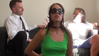 Hot brunette Liz Rainbow getting spanked and drilled roughly image