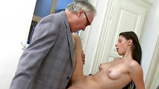 Image: Babe is letting her older teacher taste her snatch