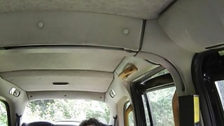 Fake taxi driver bangs ebony amateur babe image