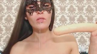 Image: She loves Sucking Dildo From Her Gaping Ass